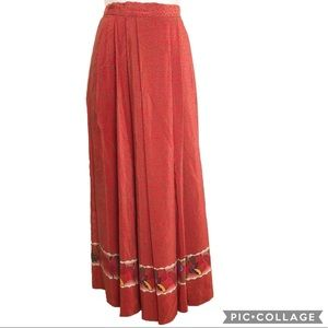 Vintage Fall Silk Linda Allard Skirt Boho Festival